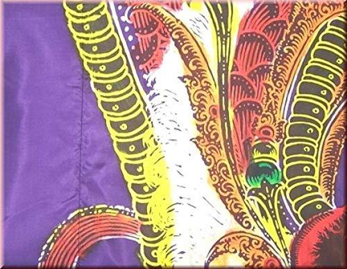 DEKOVALENZ - Drachen-Fahne NAGA, 5 Meter, handbedruckte Bali-Flagge, Farbe:lila