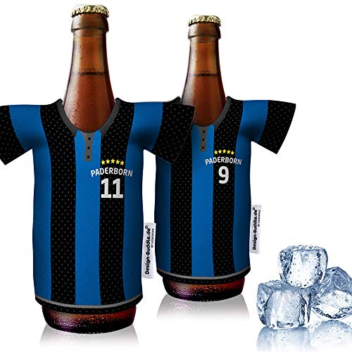 vereins-Trikot-kühler Home für SC Paderborn Fans | 2er Fan-Edition| 2X Trikots | Fußball Fanartikel Jersey Bierkühler by Ligakakao