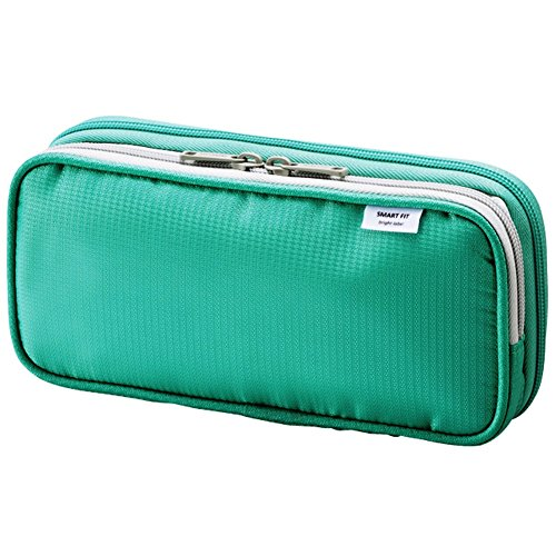 LIHIT LAB Double Pen Case, Large, 4.1 x 8.7', Green (A7661-7)