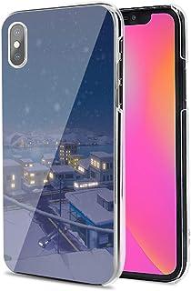 LG G8X ThinQ ケース カバー ハード TPU 素材 おしゃれ かわいい 耐衝撃 花柄 人気 全機種対応 雪の夜2 アニメ ファッション かわいい 11898146