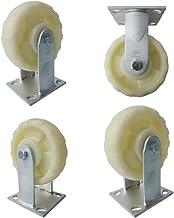 Zwenkwielen (4 stuks) 6 Inch Industrieel Heavy Duty 6 Inch Activiteit Vaste zijkant Dubbel Volledige rem Versterkt patroon...