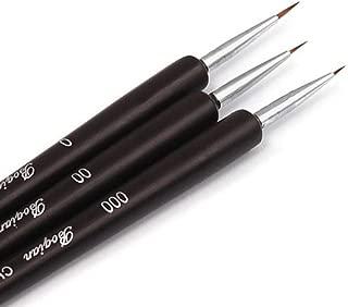 Nail Art Pen, Lookatool 3Pcs Dotting Painting Drawing UV Gel Liner Polish Brush Tool Nail Art Pen