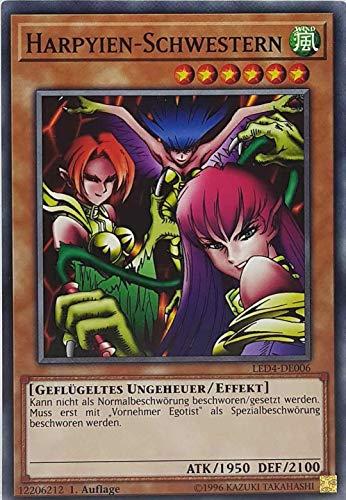 TCG GamersheavenDe - Juego de mesa Harpyien-Schwestern LED4-DE006 Common Yugioh