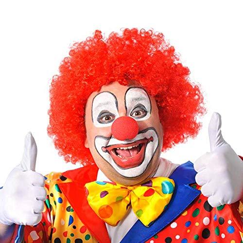 German Trendseller® Rote Clown Perücke -Deluxe- ┃ Universalgröße ┃ Crazy Clown Haare ┃ E-S ┃ Karneval - Fasching ┃ Clownhaare