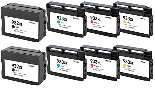 Prestige Cartridge 8 XL Cartucce d'inchiostro per HP Officejet 6600 6700 7110 7610 7612 7620 6100 7510 7600 | compatibile con HP 932 XL HP 933 XL (CN053AE CN054AE CN055AE CN056AE)
