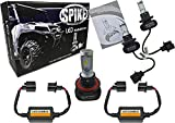 Spike LED Headlight High/Low Bulbs 4000 Lumens For Polaris UTV