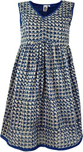 Guru-Shop Sukienka mini, tunika, z nadrukiem blokowym, damska, bawełna, krótka sukienka, alternatywna odzież