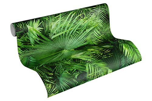 A.S. Création 362001 A.S. Creation 36200-1 New Studio 2.0 Papier peint non tissé Motif jungle Vert/noir 10,05 m x 53 cm