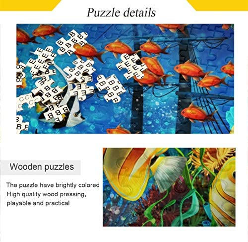 Ocean Adventure Fish Personalized Puzzle 30 piece Heavy Duty Hardboard Jigsaw Puzzle Custom Kids Puzzle Valentine Easter Birthday Gifts