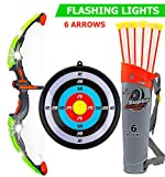 Toysery Bow and Arrow for Kids with LED Flash Lights - Archery Bow with 6...