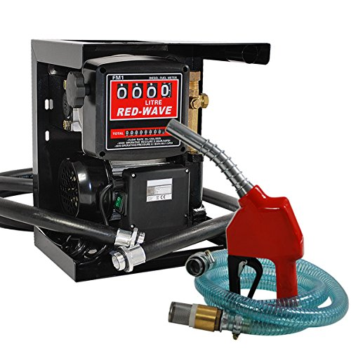 Helo 'DP60L' Dieselpumpe Heizölpumpe mit Magnetabscheider 230V selbstansaugend, Set mit ca. 60l/min. Förderleistung, inkl. doppeltem Zählwerk und automatischer Zapfpistole mit 4 m Leitung