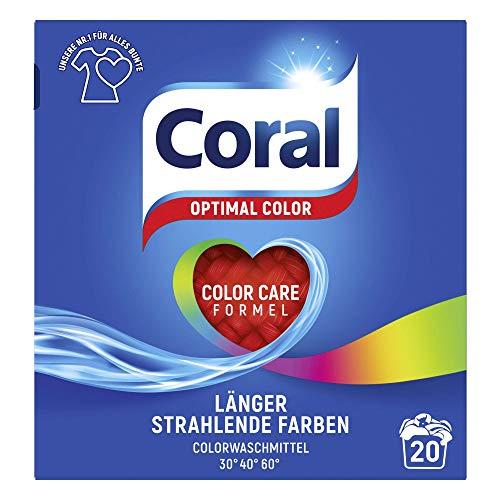Coral Waschmittel Optimal Color Pulver 20 WL (1 x 20 Waschladungen)