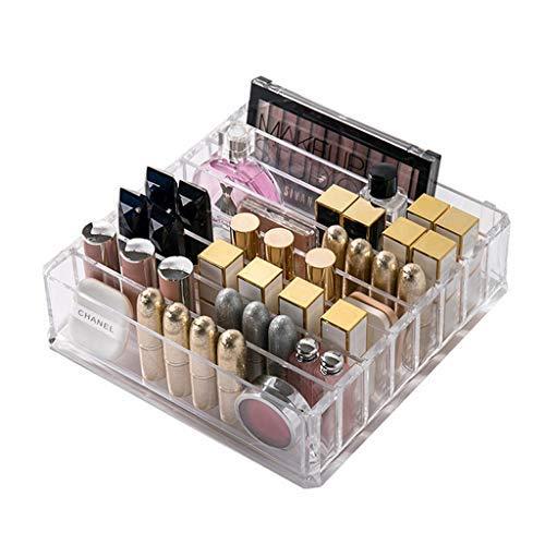 Kunststoff Make-up Veranstalter CC Creme Aufbewahrungsbox Klarheit Kosmetik Make-up Halter Vanity Cabinet Powder Display Regal