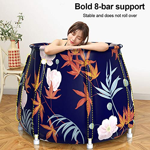 Interesty Foldable Bathtub Portable Soaking Bath Tub, Bathing Tub for Shower Stall to Keep Temperature, 73x26x11cm