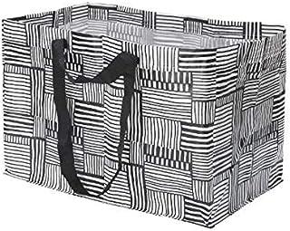 IKEA FISSLA 大型ショッピングバッグ キャリアバッグ ホワイト ブラック704.292.82