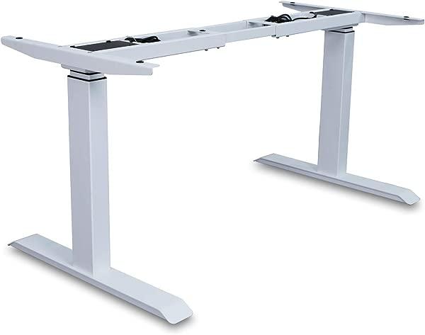 AITERMINAL Electric Standing Desk Frame Single Motor Adjustable Motorized Stand Up Desk White Frame Only