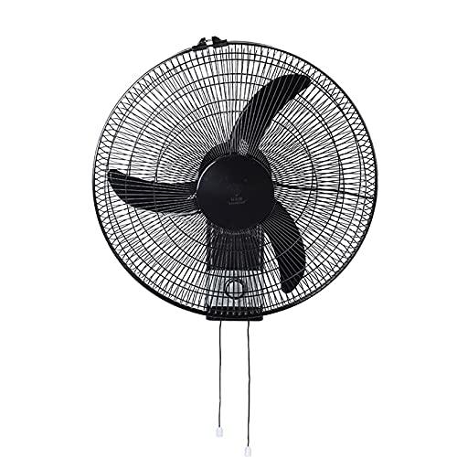 BDFS Ventilador de Pared, Ventilador Eléctrico Silencioso Negro con Control Remoto Oscilante, Ventilador de Pared, Enfriamiento de 18 Pulgadas para El Verano en La Oficina en Casa