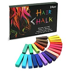 SYOSIN Haarkreide, Haar Colorationen, 24 Farben Temporäre Haarfarbe, Colorful Professional Waxy-Mehrere Farboptionen-für Karneval, Party, Weihnachten Halloween Geburtstag