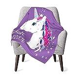 Delerain Manta de bebé mágica de unicornio de 76 x 40 cm,...