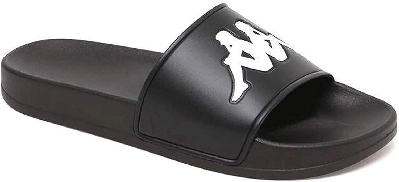 Kappa Women's Adam 2 Logo Slide Sandals-Black White_5