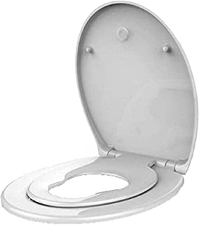 LYQQQQ Toiletbril Universele O-Stijl Toilet Deksel Urea-Formaldehyde Drop Mute Top Gemonteerd Eenvoudig Te Installeren WC-...