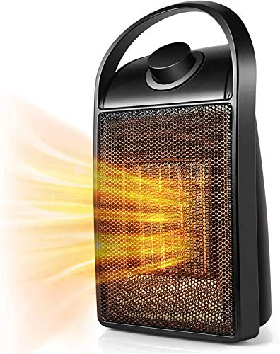 Yeslike Space Heater, Indoor 750W/1500W Ceramic 3 in 1 Electric Heater, Purifier, Sterilizer, for Home/Office/Bedroom and Bathroom, Personal Desk Heater