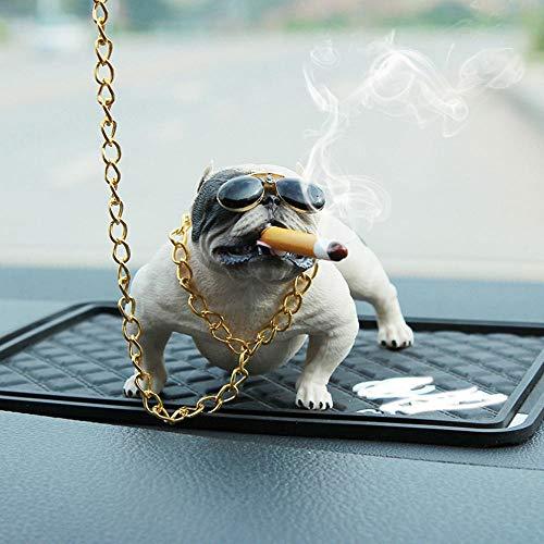 GNZM Deko Skulpturen Statue Figur Bully Pitbull Hund Auto Innendekoration Dashboard Ornament Mode Lustig Niedlich Home Decoration Auto Zubehör Keine Base-D