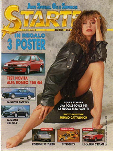 Starter 6 del Giugno 1992 con Poster Citroen ZX Rallye-Raid e retro Volcane, Alba Parietti