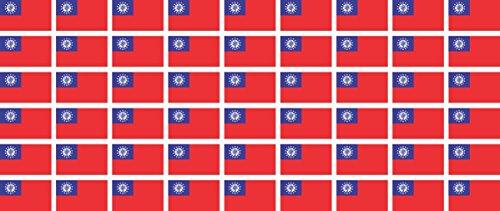 Mini Aufkleber Set - Pack glatt - 20x12mm - Sticker - Myanmar - Flagge-Banner-Standarte fürs Auto, Büro, zu Hause & die Schule - 54 Stück