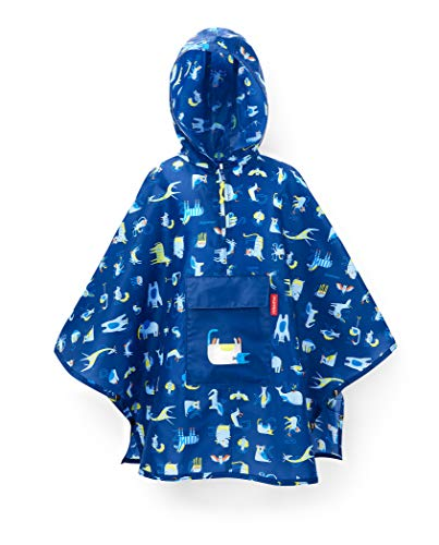 Reisenthel Mini Maxi Poncho Kids ABC Friends Blue Funda para Mochila, 93 cm, Azul (ABC Blue)