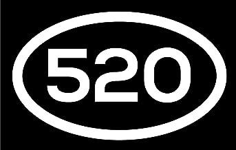 DHDM 520 Area Code Sticker Arizona Tucson Casa Adobes Casa Grande City Pride Love | 5-Inches by 3-Inches | Premium Quality White Vinyl | ND476