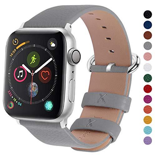 Fullmosa kompatibel mit Apple Watch Armband 38mm in 15 Farben für Watch Serie 5/4/3/2/1,Grau 38mm