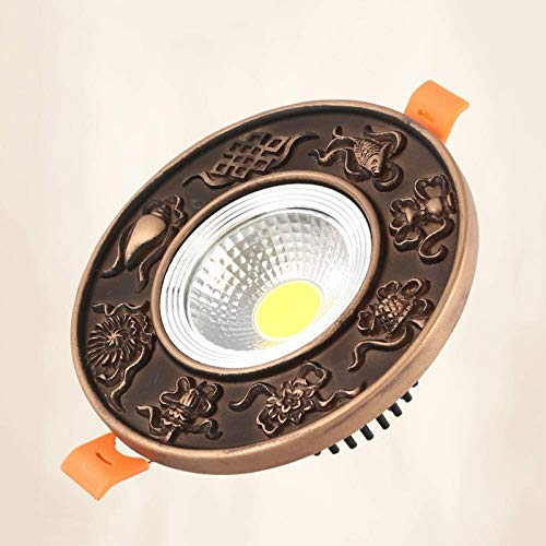 Luz de techo de resina ecológica Foco empotrado de panel empotrado LED Foco reflector plano comercial redondo ultradelgado Accesorio de iluminación empotrado de interior para el hogar que ahorra ener