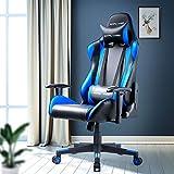 GTPLAYER Gaming Stuhl Bürostuhl Gamer Ergonomischer Stuhl Einstellbare Armlehne Einteiliger Stahlrahmen Einstellbarer Neigungswinkel Blau - 5