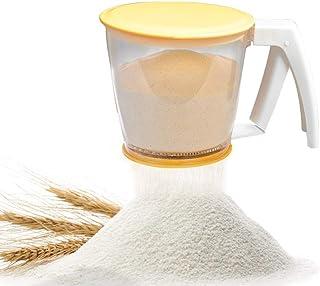 كوب طحين ومصفاة طحين ومصفاة طحين ومسحوق غربلة من البولي بروبيلين وأدوات الخبز بغطاء، ومستلزمات خبز طحين وآيس السكر