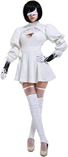 miccostumes Women's White Two-Piece Dress Outfit No 2 Type B Cosplay Costume Leotard Skirt