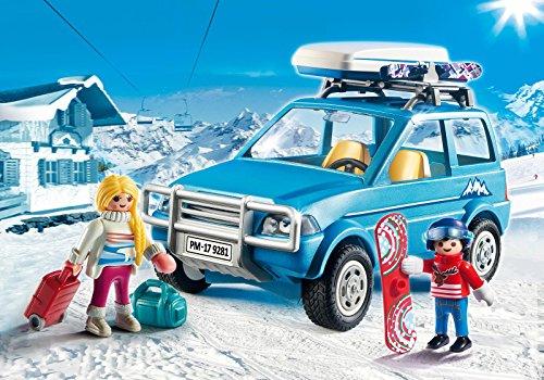 Playmobil 9281 Family Fun - Juego de construcción, 4 x 4 con baúl de techo