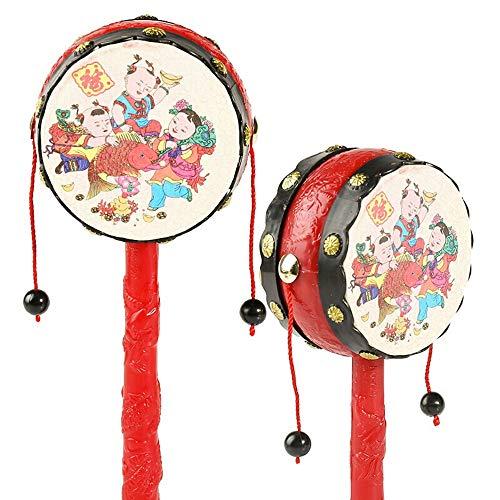N\A ZGGYA 7,6-Zoll-Puzzle Aufklärung Helle und Bequeme Baby-Geklapper Klassik Nostalgic Red Rattle Stall Will Hand Rattle Kinder Spielzeug zu tragen