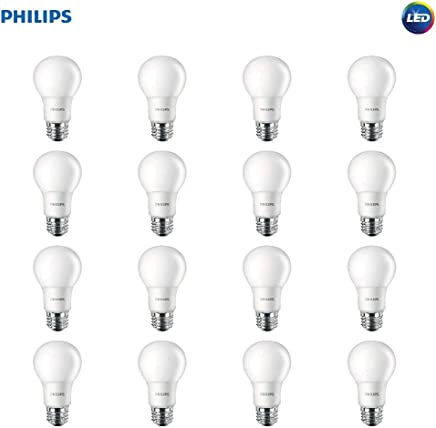 Philips LED Non-Dimmable A19 Frosted Light Bulb: 800-Lumen, 2700-