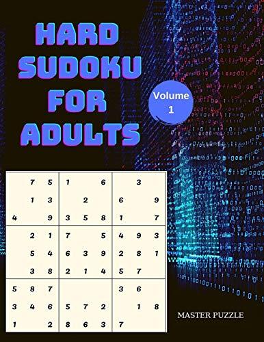 Hard Sudoku for Adults   The Super Sudoku  Book Volume 1