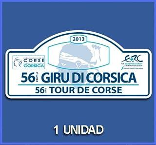 PEGATINAS STICKERS RALLY RALLYE GIRO DI CORSICA 2013 DP747 RALLYE AUFKLEBER DECALS AUTOCOLLANTS ADESIVI CAR DECALS RALLY R...
