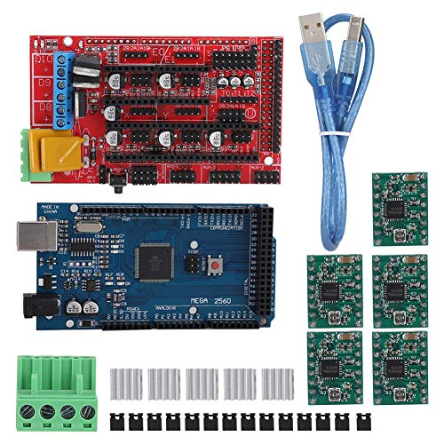 Goshyda 3D Printer Kit Set,3D Printer Accessories with Tools 2560R3 Master Control, RAMPS 1.4 Board, 5 PCS A4988 Drives