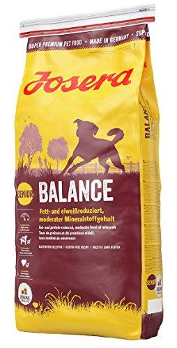 JOSERA Balance (1 x 15 kg) | fett- und eiweißreduziertes Hundefutter für Senioren | glutenfrei | Super Premium Trockenfutter für ältere Hunde | 1er Pack