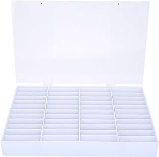 Nail Art Box, Empty Nail Tips Storage Box Clear Nail Art Decoration Container Nail Display Case
