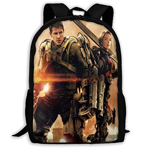 Edge of Tomorrow Printed Daypack Children Bagpack Gym Bags Backpack College for Women Men,Size 43X28X16Cm