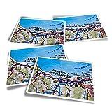Pegatinas rectangulares de vinilo (juego de 4) – Donostia-San Sabastian España España Divertidas calcomanías de viaje para portátiles, tabletas, equipaje, reserva de chatarra #44892