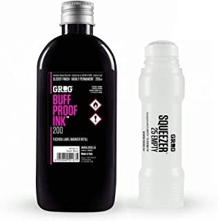 Grog Refill Ink & Empty Squeezer 25 Marker: Death Black