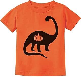 Halloween Dinosaur Jack O' Lantern Pumpkin Toddler Kids T-Shirt