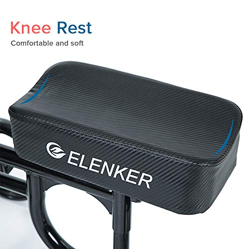 ELENKER Steerable Knee Walker with Basket