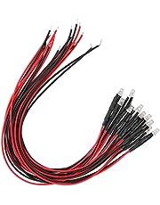 50 szt. żarówki LED, 12 V okrągła głowica pojedyncze migające diody LED emitujące diody z wstępnie przewodowymi (niebieskie światło)